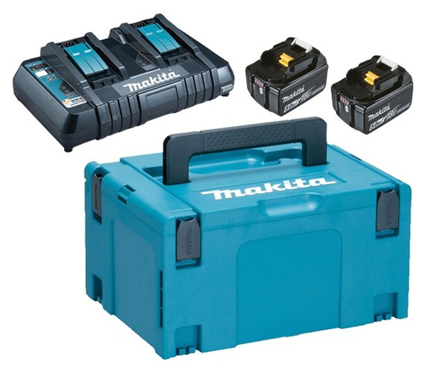 Sada AKU batérií a nabíjačky MAKITA DC18RD + 2x BL1850B