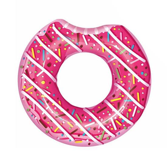 Kruh nafukovací BESTWAY Donut růžový s posypem 100cm