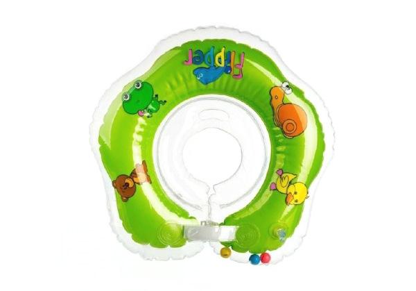 Nákrčník plávacie TEDDIES FLIPPER GREEN