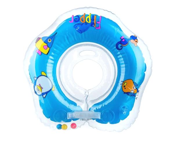 Nákrčník plávacie TEDDIES FLIPPER BLUE