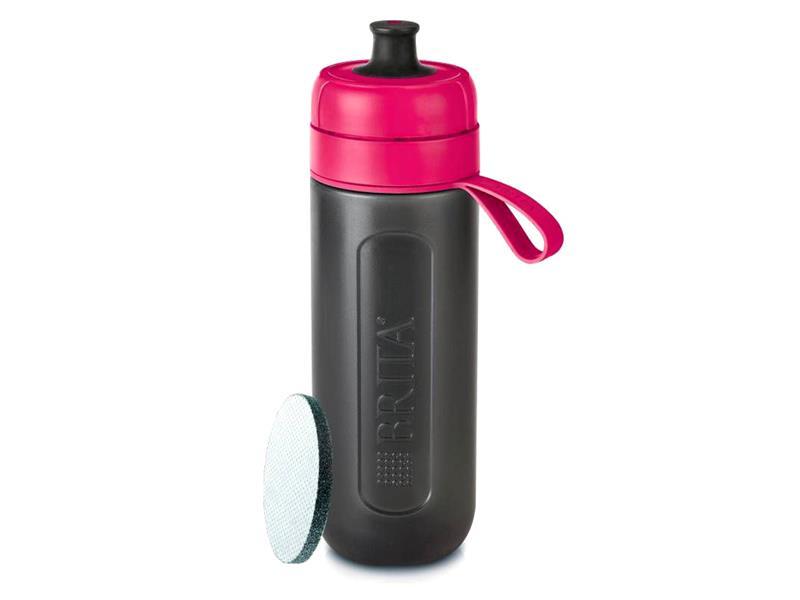 Fľaša filtračné BRITA FILL & GO ACTIVE PINK + ZADARMO filter MICRODISC
