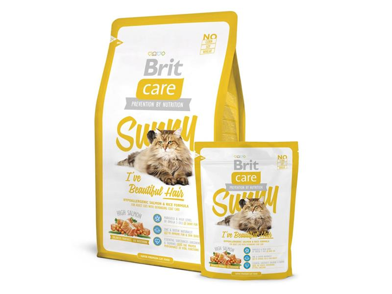 Granule BRIT CARE CAT SUNNY I'VE BEAUTIFUL HAIR 7 kg
