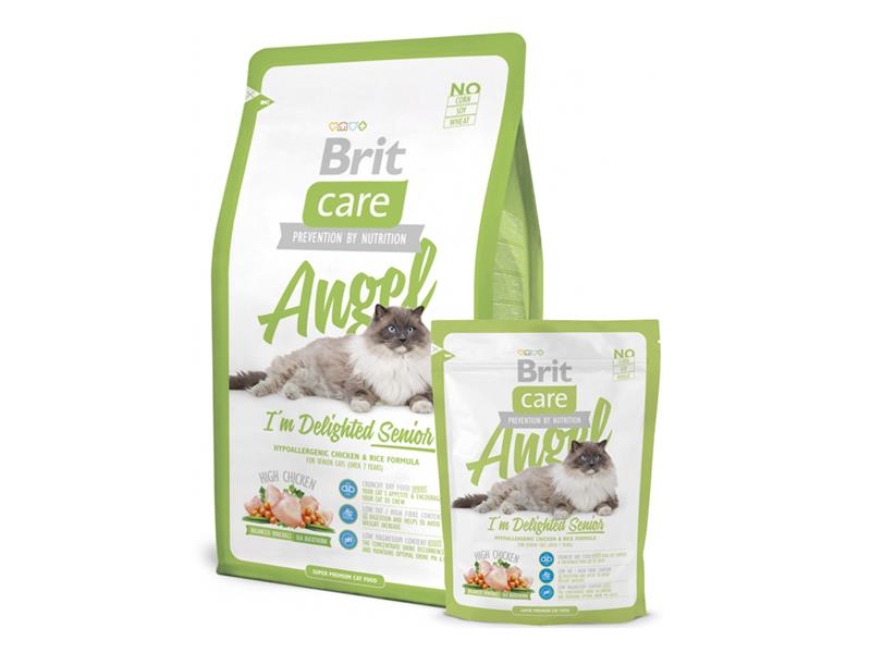Granule BRIT CARE CAT SENIOR ANGEL I'M DELIGHTED 7 kg