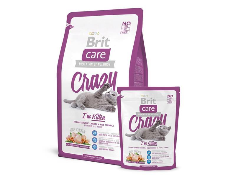 Granule BRIT CARE CAT CRAZY I'M KITTEN 7 kg