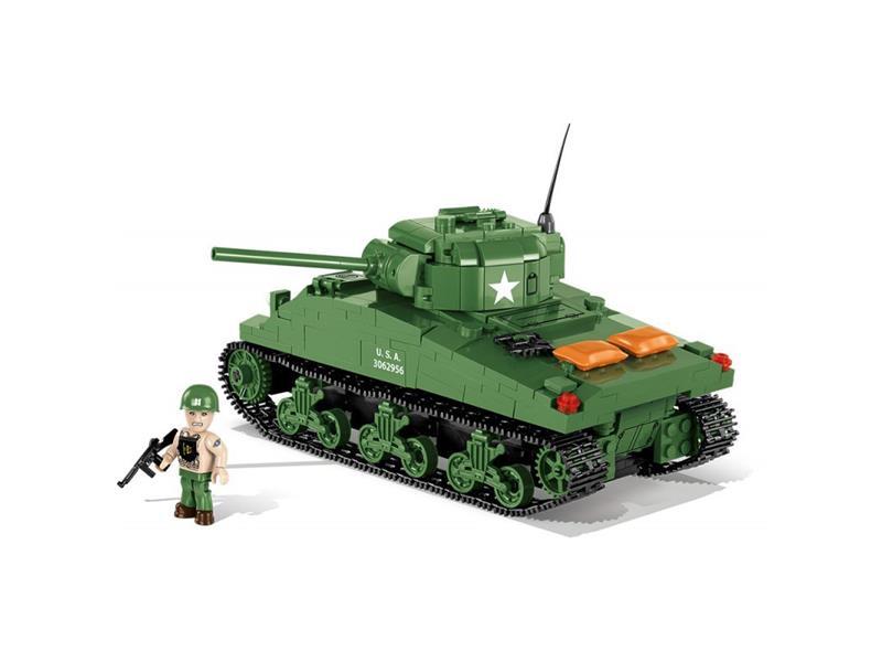 Stavebnica COBI 2464 Small Army II WW M4A1 Sherman, 480 k, 1 f