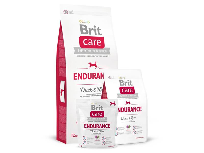 Granule BRIT CARE DOG ENDURANCE DUCK & RICE 12 kg