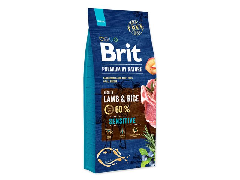 Granule BRIT PREMIUM DOG BY NATURE SENSITIVE LAMB 15 kg