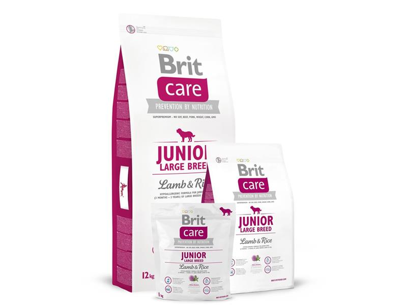 Granule BRIT CARE DOG JUNIOR LARGE BREED LAMB & RICE 12 kg