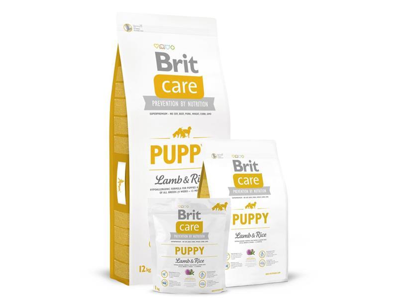 Granule BRIT CARE DOG PUPPY ALL BREED LAMB & RICE 12 kg