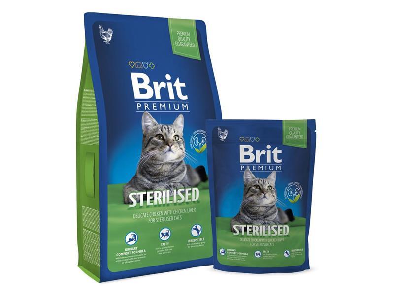 Granule BRIT PREMIUM CAT ADULT STERILISED 8 kg