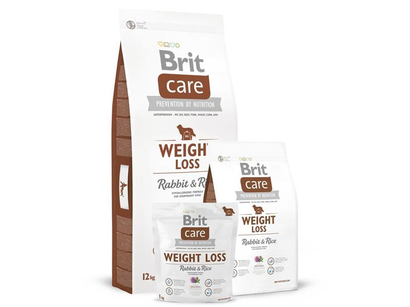 Granule BRIT CARE DOG WEIGHT LOSS RABBIT & RICE 12 kg