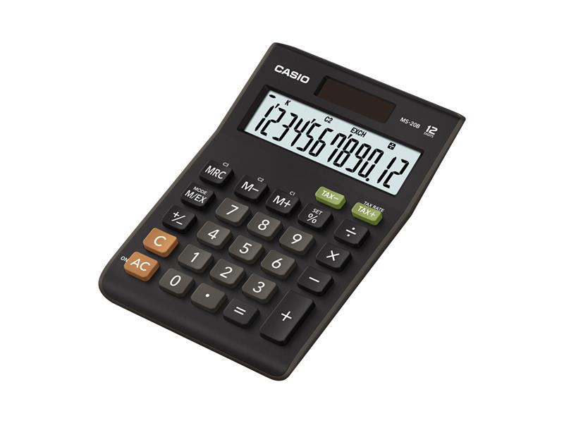 Kalkulátor stolný CASIO MS 20 B S (TAX + EXCHANGE)