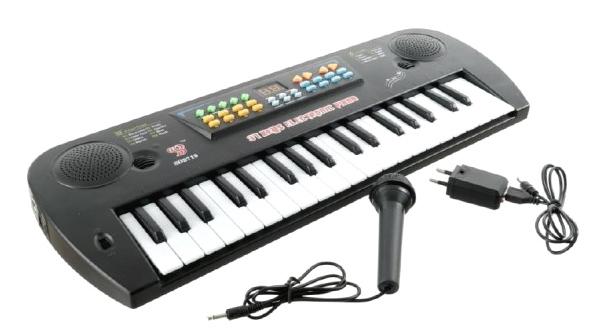 Detské klávesy TEDDIES s mikrofónom 50 cm