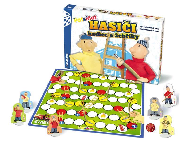 Hra stolná BONAPARTE Hasiči hadice a rebríky Pat a Mat