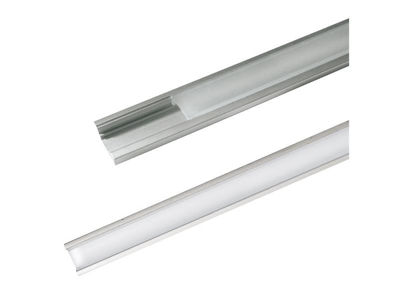 AL profil AR1 nový 24,7x7mm pre LED pásiky, k zapustenie, vrátane plexi 2m