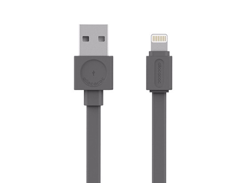 Kábel ALLOCACOC USB/Lightning 1.5m šedý