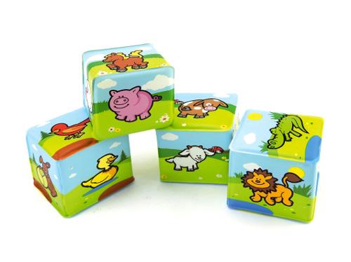 Detské kocky TEDDIES Moje prvé zvieratká