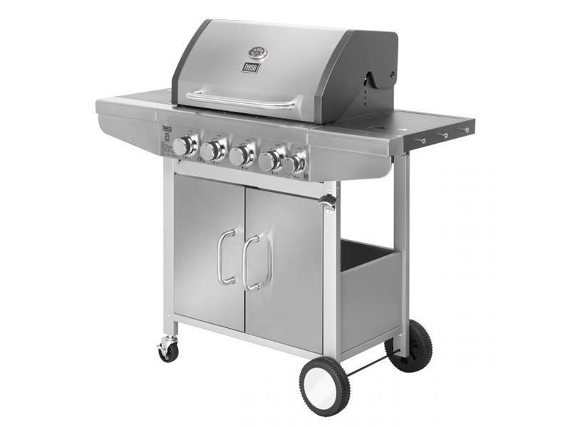 Gril plynový Tees BBQ 5000 sivý