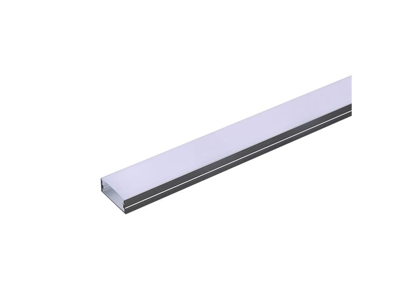 AL profil pro LED, AS3 pre viacero pasikov 23,5x10mm l=2m (zacvakávací/zasunovací)