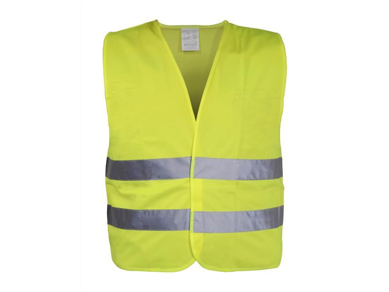 Reflexná výstražná vesta žltá XXL EN 20471:2013 + A1:2016 COMPASS 01509