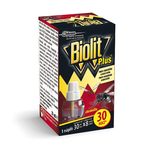 BIOLIT Plus tekutá náplň 30 nocí - proti muchám a komárom 31ml