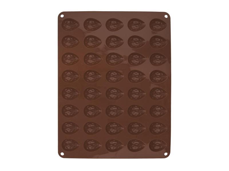 Forma na pečenie ORION Orechy 40 silikón hnedá