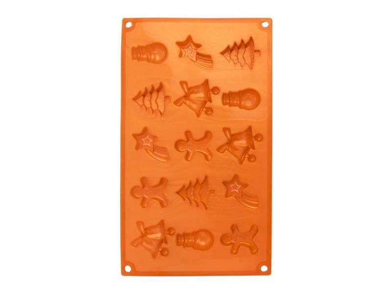 Forma na pečenie ORION Christmas 15 silikón oranžová