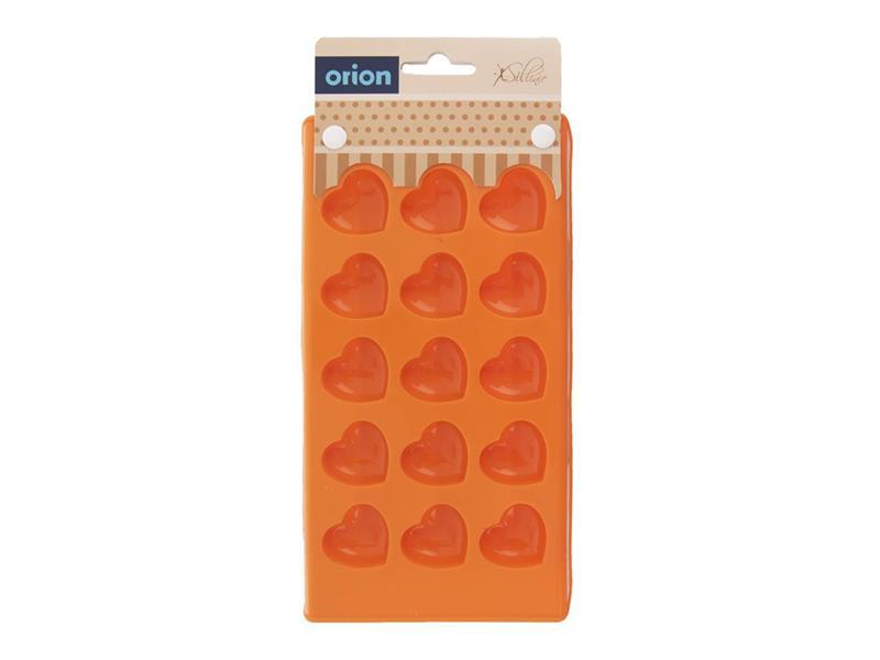 Forma ORION Srdce silikón oranžová