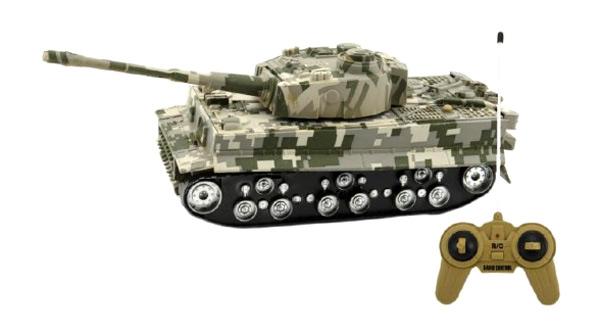 Tank TEDDIES TIGER so zvukom a svetlom 25 cm