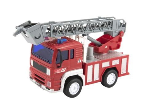 Detské hasičské auto na zotrvačník TEDDIES so zvukom a svetlom 20 cm