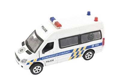 Detské policajné auto TEDDIES so zvukom a svetlom 15 cm