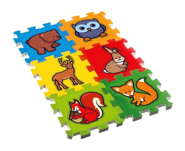 Detské puzzle TEDDIES Moje prvé lesné zvieratká penové 6ks