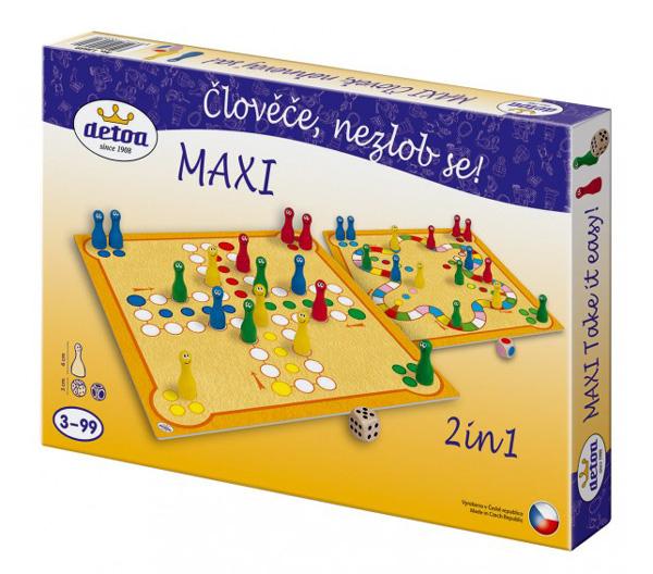 Hra stolný DETOA Maxi Človeče, nehnevaj sa!