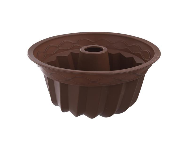 Forma na pečenie ORION Bábovka 23.5 cm silikón hnedá