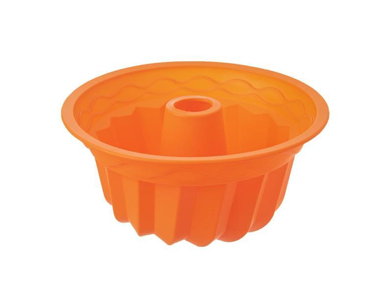 Forma na pečenie ORION Bábovka 23.5 cm silikón oranžová