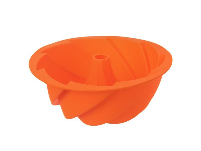 Forma na pečenie ORION Bábovka Flower 23.5 cm silikón oranžová