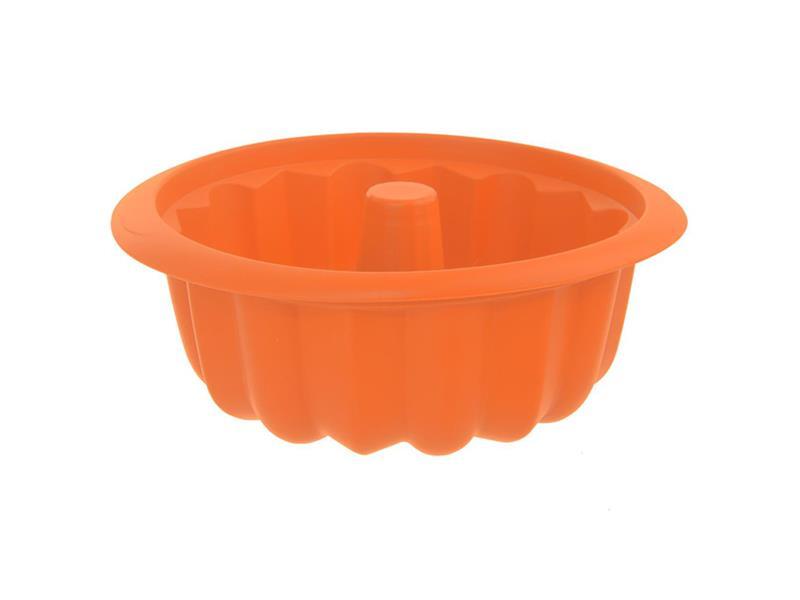 Forma na pečenie ORION Bábovka 26 cm silikón oranžová