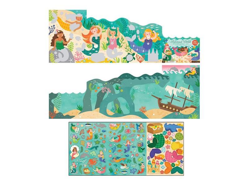 Detské samolepky PETITCOLLAGE Svet morskej víly drevené