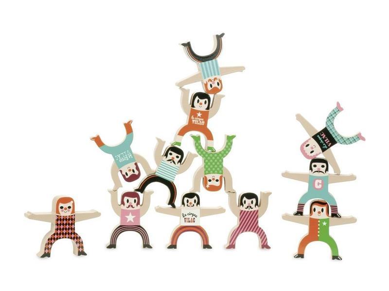 Detské postavičky VILAC Akrobati drevené