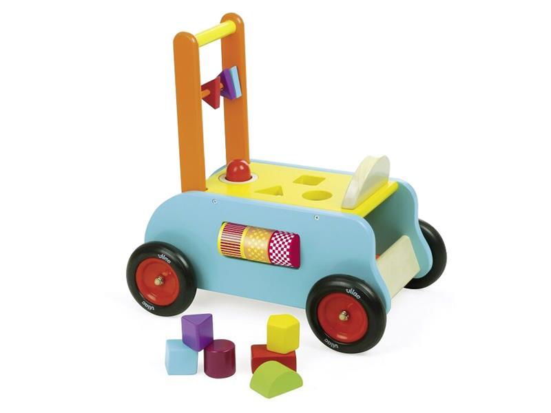 Detské multifunkčné vozítko VILAC drevené