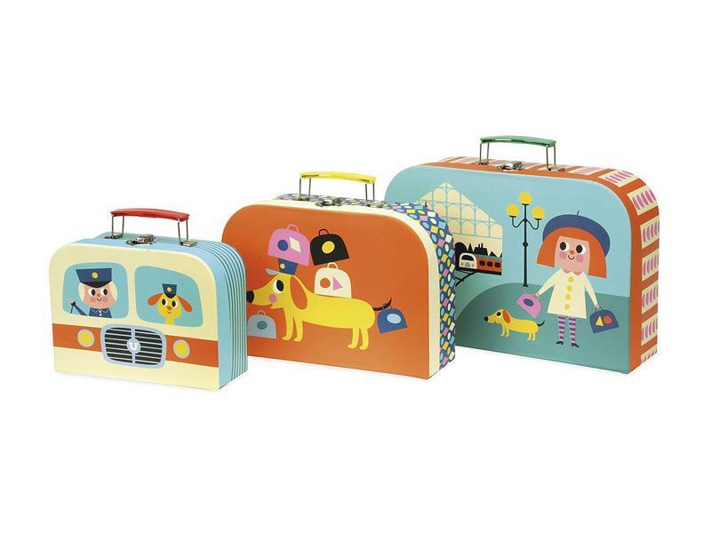 Detský set 3 kufríkov VILAC drevený