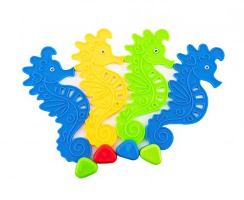 Koníky pre potápanie Teddies plast 4ks