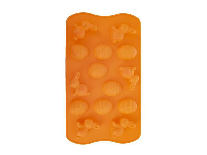 Forma na pečenie ORION Veľkú noc silikón oranžová
