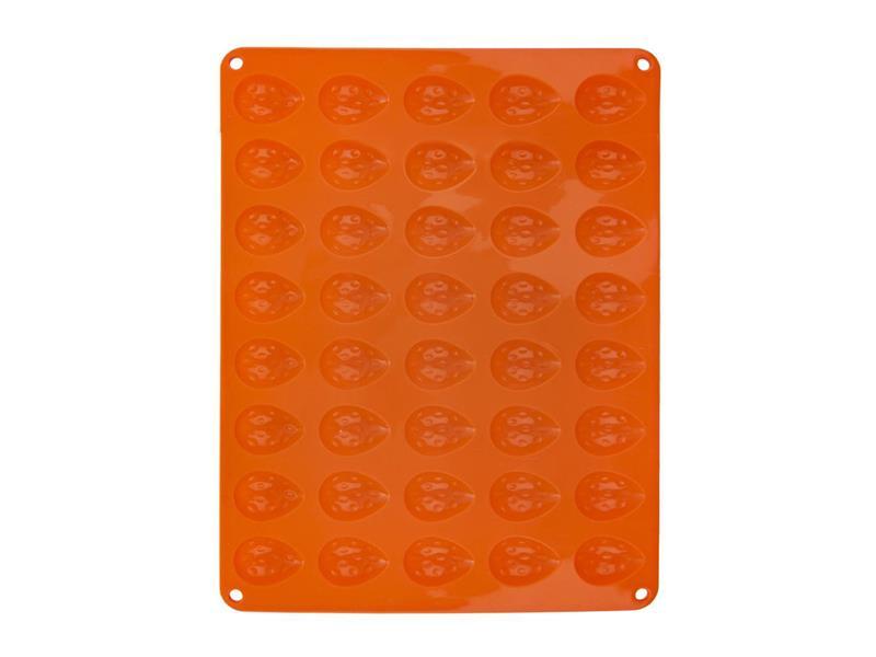 Forma na pečenie ORION Orechy 40 silikón oranžová