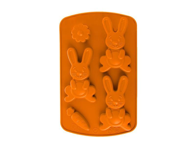 Forma na pečenie ORION Zajíc silikón oranžová