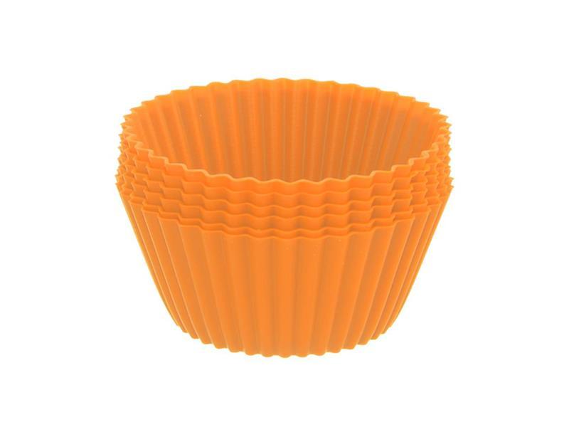 Forma na pečenie ORION Muffiny silikón oranžová 12ks