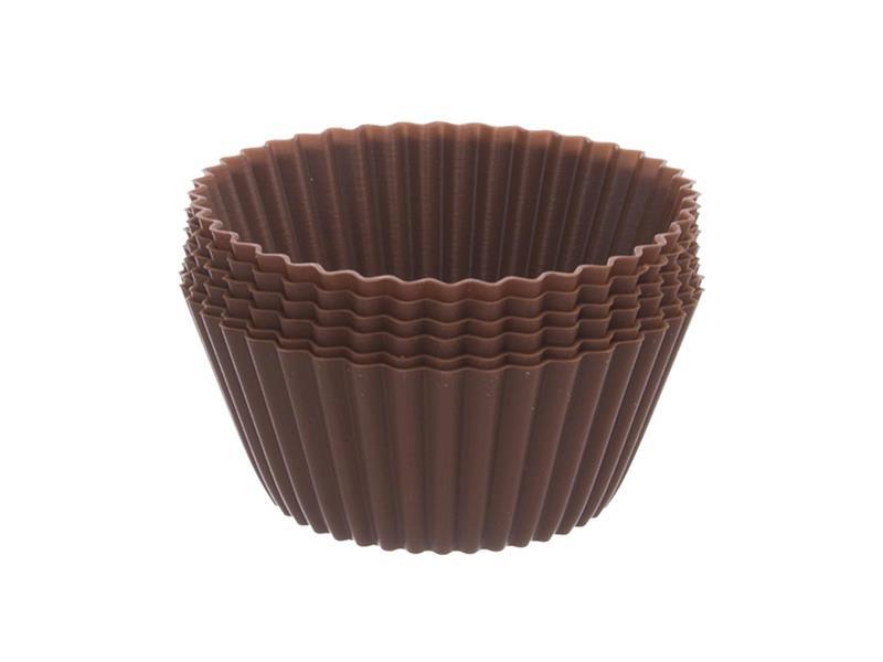 Forma na pečenie ORION Muffiny silikón hnedá 12ks