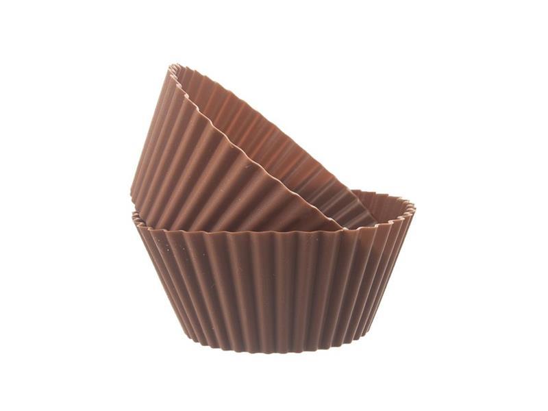 Forma na pečenie ORION Muffiny silikón hnedá 6ks