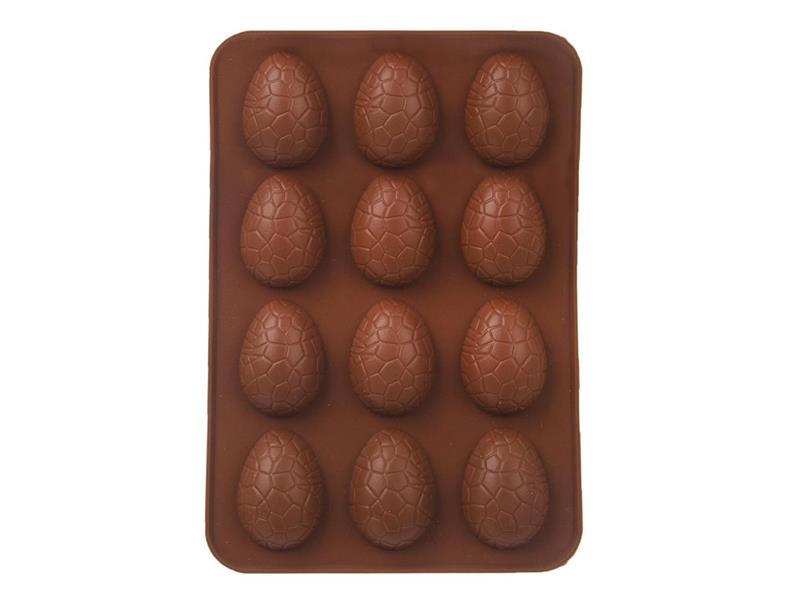 Forma na pečenie ORION Vajíčka 12 silikón hnedá