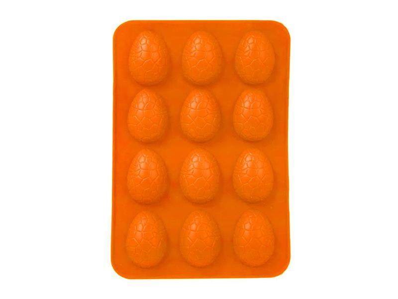 Forma na pečenie ORION Vajíčka 12 silikón oranžová